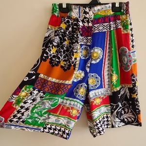 Retro high rise shorts colorful and funky